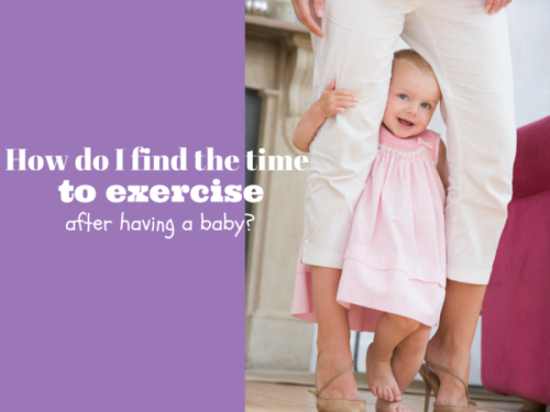 How do I find time to exercise?